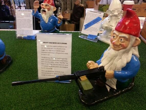 Combat garden gnome heavy machine gunner for Combat garden gnomes