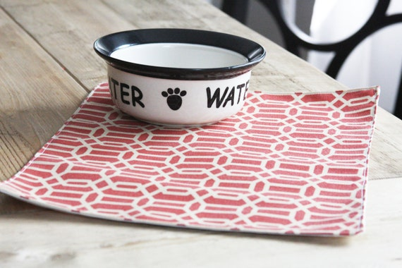 Pet Placemats - Hexagons in Brick a Small Size