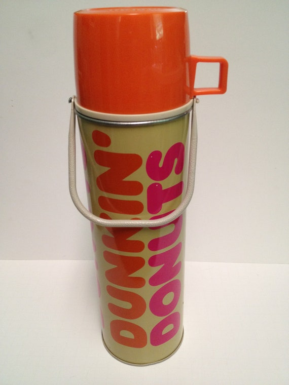 Vintage Dunkin Donuts Metal Thermos