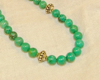 """Turquoise & Bali Silver 18"""" Necklace"""