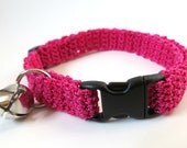 Adjustable Cat Collar Pink with Bell
