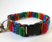 Adjustable Cat Collar Rainbow with Bell