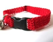 Adjustable Cat Collar Red with Bell