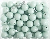 20mm - 10 PACK of Light Aqua 20mm Gumball Beads, Chunky Acrylic Beads, 20mm Chunky Beads, 20mm Beads, Bubblegum Beads, 2MM Hole