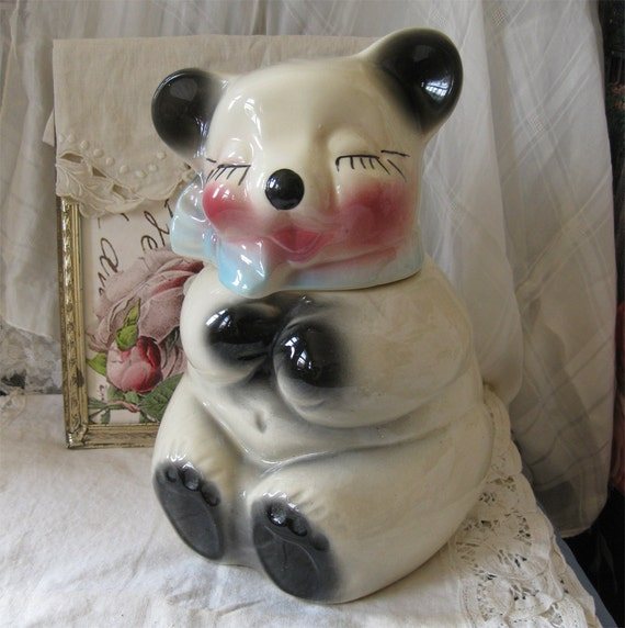 Teddy Bear Cookie Jar - Retro