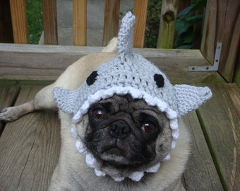 Shark Fin Dog Hat/ Made to Order