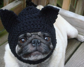 Black Cat Dog and Cat Hat / Catwoman/ Made To Order