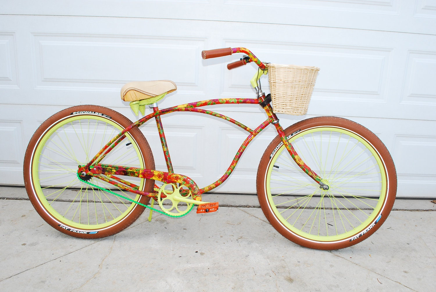 real rideable bicycle custom beach cruiser bike 250 obo. Black Bedroom Furniture Sets. Home Design Ideas