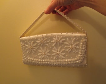 Vintage Wedding Beaded Bag or Clutch