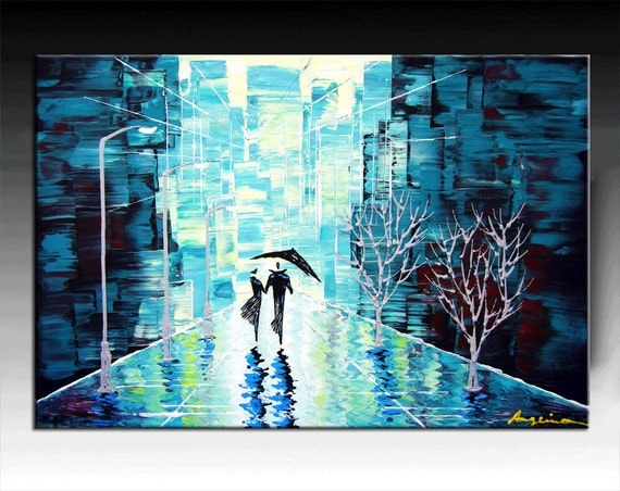 Original Contemporary Palette Knife Fine Art Painting Abstract  On Gallery Wrapped Canvas Ready To Hang