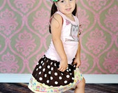 Rhinestone Owl Tank and  Skirt Combo Available in 6-12  months through 6/8
