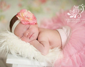 Clearance Sale- Flower headband or clip- Photo prop newborns babies toddlers girls women