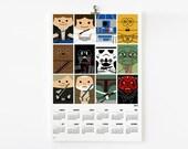 SALE - 2013 Calendar Star wars 11 x 16 on A3 Free Shipping