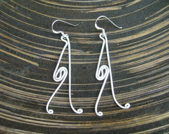 Handmade Silver Earrings - The Walker