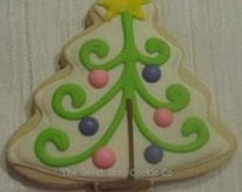 Sweet Christmas tree cookies 2 dozen