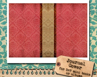 Shabby Chic Damask - Downloadable Journal Cover