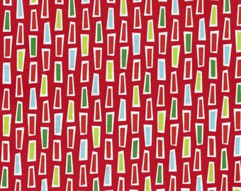 Fabric 1 Yard GROOVE 9973-223 Holiday DASHES Caleb Gray Christmas Green Lime Aqua Red Robert Kaufman Quilting Sewing