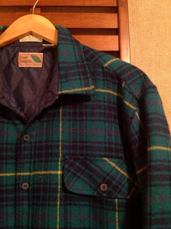80s Pine Grove Men's L Quilt Lined Flannel Jacket