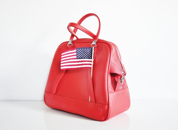 Red American Tourister Shoulder Bag - Circa 1960s
