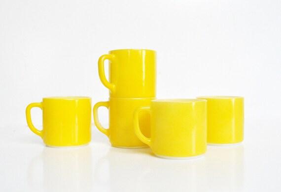 Federal Glass Mug Collection - Sunny Yellow