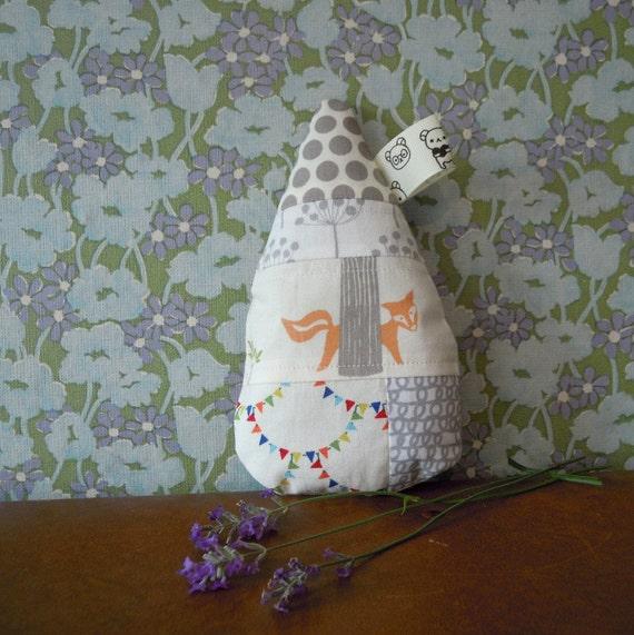 Lavender Raindrop Hiding Fox