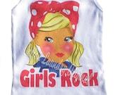 Cotton Laundry tshirt Girls Rock.