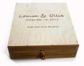 Wine Box Wedding Wine Box Love Letter Ceremony box Wedding Box Ceremony Custom Wine Box for three wine bottles NAS