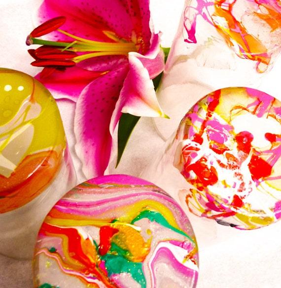 Marbled WEDDING TABLE DECOR (6) - flower vase, drinking glass, candle or tea light holder, place card holder
