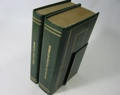 SALE- Retro 1970s Dictionary and Thesaurus with Book Stand Lt106