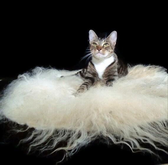 Pet Bed Mat Wool Fleece Felted Rug - Icelandic Spot
