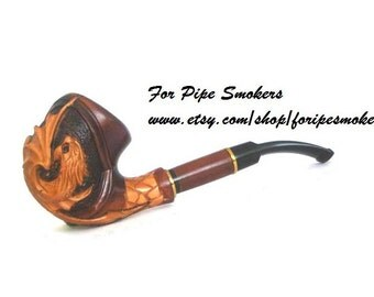 Smoking Pipes.Wooden Tobacco Pipes  DRAGON  Exclusive Totally Handmade
