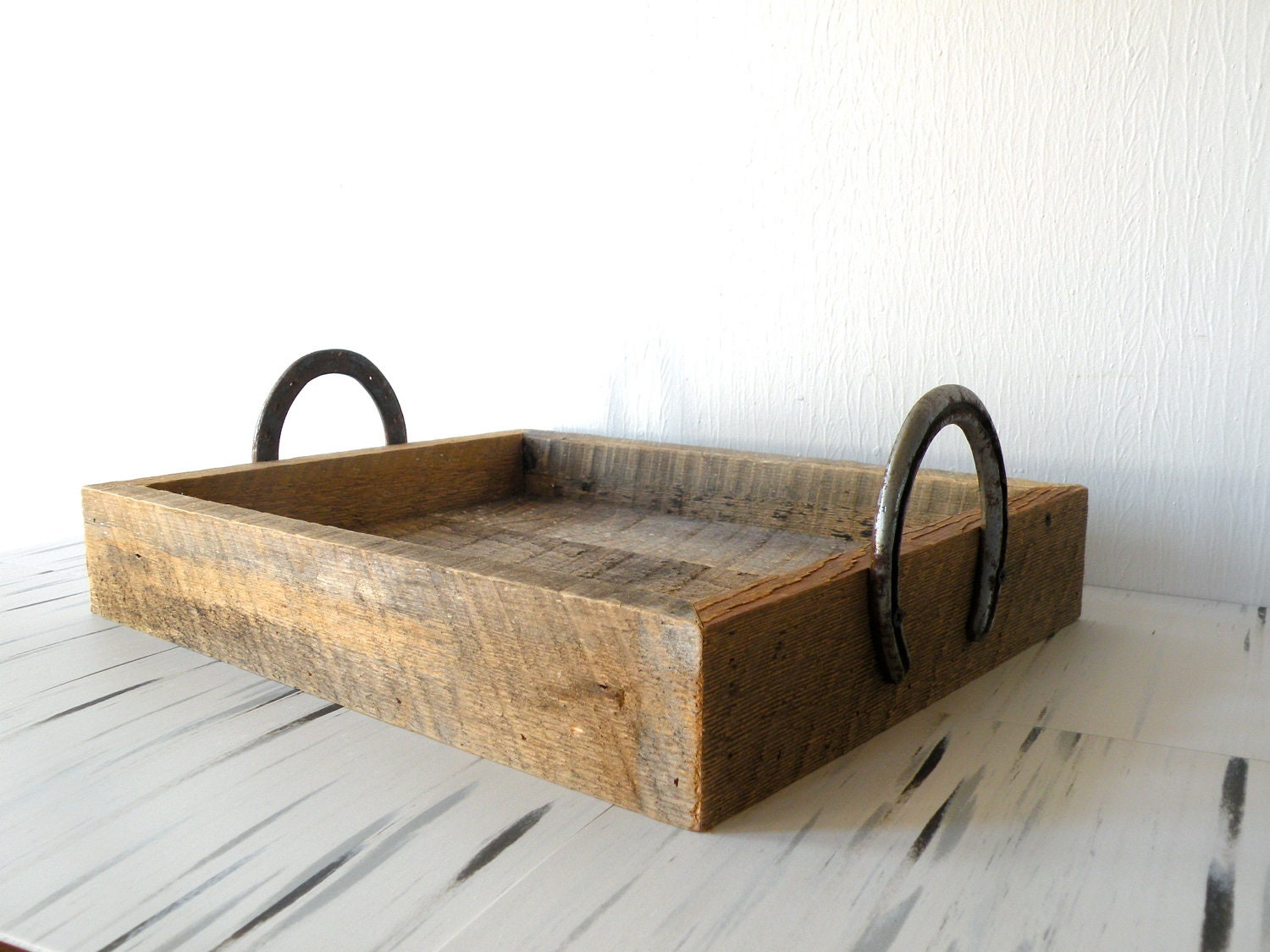 Items Similar To Reclaimed Barn Wood Serving Tray W Horse