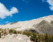 Fine Art Photo - Gift Ideas - Azure Blue sky over White Mountain in California - Nature landscape, scenic print - home decor wall art