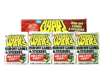 4 Robot Wars Sticker & Rub Off Game Packs