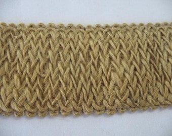 Wide Elastic Burlap Ribbon