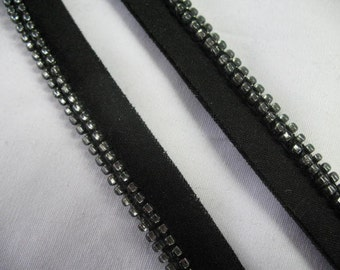 BLACK and PUTTER BEADS  Pillow Trim Piping Cord Gimp