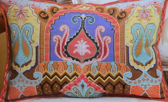 Marie Barber PERSIAN PILLOW - Counted Cross Stitch Pattern Chart - fam