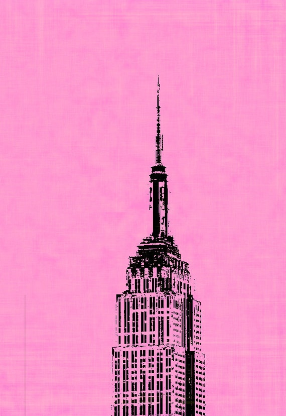 Empire State Building Pop Art on Stretched Canvas New York