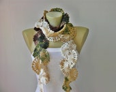Crochet scarf,scarf ,long scarf,wool blend yarn