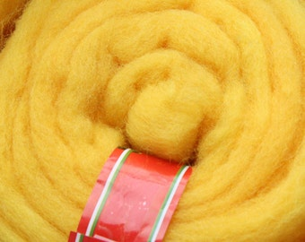 50gr- 1.76 oz yellow wool roving Wool for Felting  U 80 005