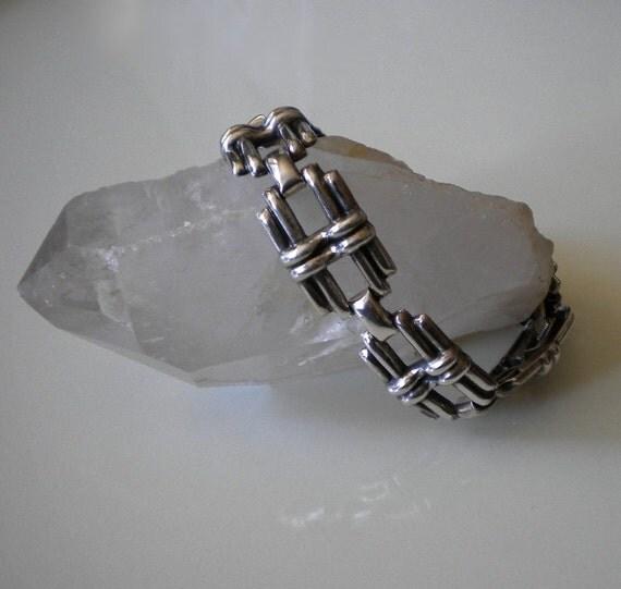 Vintage Danecraft Sterling Lattice Bracelet Deco Style