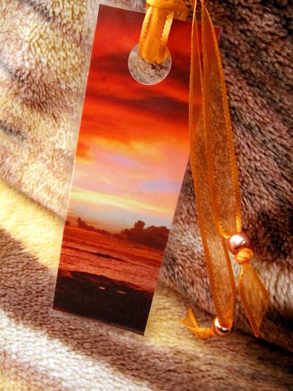 Orange Clouds and Sea Bookmark