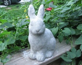 Shabby Rabbit Statue-Sitting Up