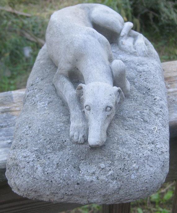 Garden Statues Nh: Concrete Greyhound Statue Or Memorial By Springhillstudio