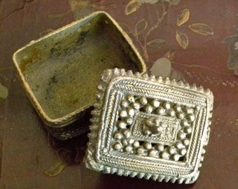 Old Bronze Cast Box from India