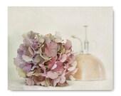 Hydrangea Photo, flower print, garden still life, pink, lavender, sage, summer, soft, pastel, limited edition valentines day