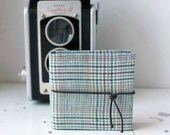 Checked pocket photo album with case: Giò