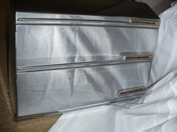 Vintage Chrome 1950's 60's Kitchen Paper towel foil wax paper wall unit storage