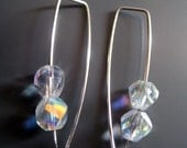 Special Price. Swarovski Double Helix Cube  AB Crystal Earrings. Super low price. So sparky. Contemporary, Modern, Classic