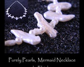 Purely Pearls, Iridescent White, Wet or Dry Jewelery, Mermaid Necklace, by Elstwhen.